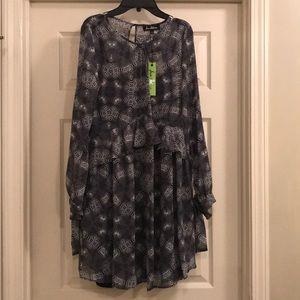 NWT Sam Edelman Grey Patterned Dress